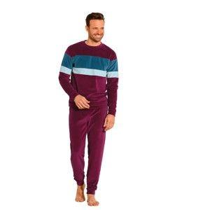 Blancheporte Velúrové pyžamo bordó 127/136 (3XL)