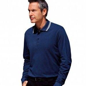 Blancheporte Pánske tričko s dlhými rukávmi námornická modrá 147/156 (5XL)