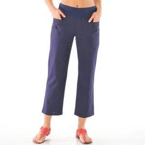 Blancheporte 7/8 nohavice ľan/bavlna nám.modrá 52