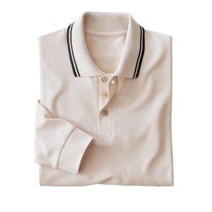 Blancheporte Pánske tričko s dlhými rukávmi prírodná 107/116 (XL)