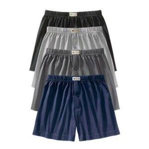 Blancheporte Trenírky jednofarebné, otvorené, súprava 4 ks sivá,sivomodrá,antrac,modrá 109/116 (XXL)