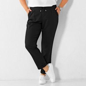 Blancheporte 7/8 vzdušné nohavice s ohrnutím čierna 42/44