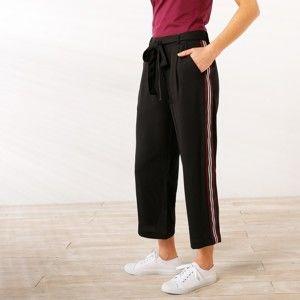 Blancheporte 3/4 nohavice so športovými pruhmi čierna 44