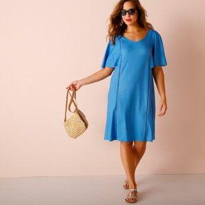 Blancheporte Šaty s pagodovými rukávmi modrá 54