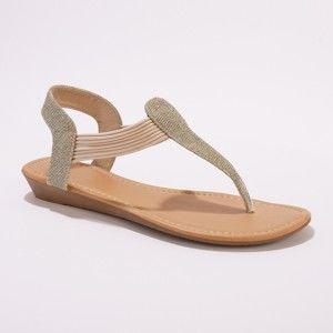 ff12627538 Blancheporte Pružné sandále na klinovom podpätku zlatá 36