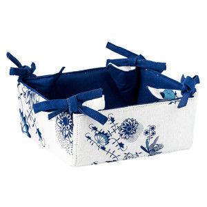 Blancheporte Košík na pečivo alebo sladkosti modrobiela 18x18x8cm