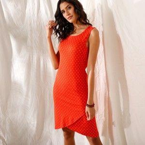 Blancheporte Puzdrové šaty s potlačou červená 50