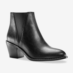 Blancheporte Členkové čižmy s gumou, čierna čierna 40