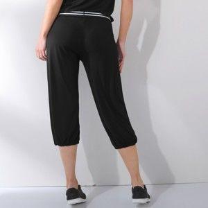 Blancheporte 3/4 jednofarebné nohavice s pružným pásom čierna 38/40