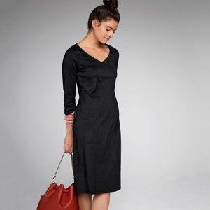 Blancheporte Jednofarebné šaty so zoštíhľujúcim efektom čierna 50
