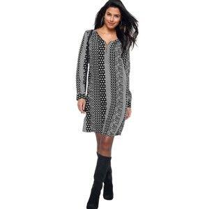 Blancheporte Šaty so zipsom a potlačou čierna/biela 48