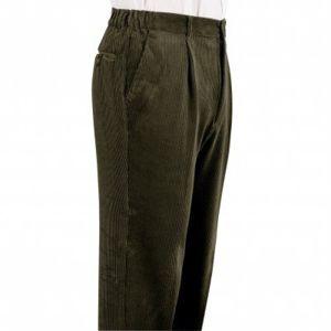 Blancheporte Menčestrové nohavice, pružný pás zelená 42