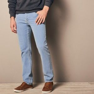 Blancheporte Špeciálne džínsy pre väčšie bruško zapratá modrá 62