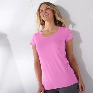 Blancheporte Jednofarebné tričko s krátkymi rukávmi lila 54