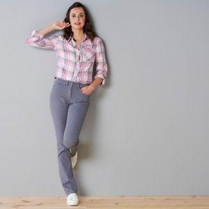 Blancheporte Formujúce nohavice s 5 vreckami fialovosivá 54