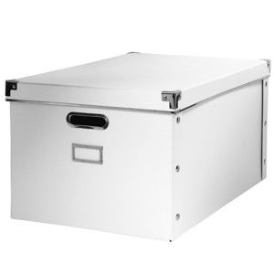 Blancheporte Úložná krabica, biely kartón biela 28x35 cm