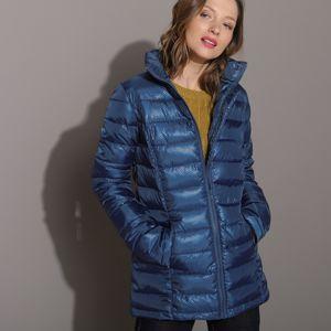 Blancheporte Krátka bunda s perleťovým efektom nám.modrá 44