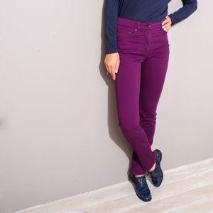 Blancheporte Strečové rovné nohavice slivková 46