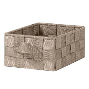 Blancheporte Úložný košík s uchami hnedosivá 18,5x14x8 cm