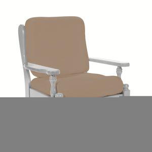 Blancheporte Poťah na rustikálne kreslo hnedosivá operadlo + sedadlo