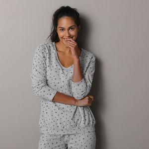 Blancheporte Pyžamové tričko s potlačou hviezdičiek sivá 42/44