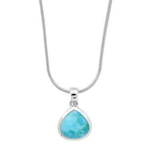Blancheporte Strieborný náhrdelník s tyrkysom tyrkysová
