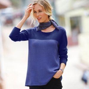 Blancheporte Dvojfarebný pulóver fialová/lila 52