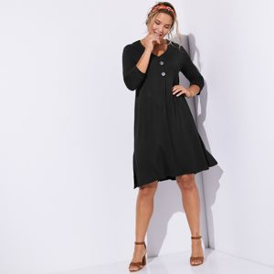 Blancheporte Široké šaty čierna 56