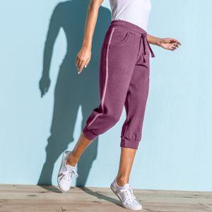 Blancheporte 3/4 športové nohavice, dvojfarebné purpurová/lila 50