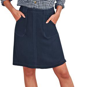 Blancheporte Jednofarebná sukňa s prešitím nám.modrá 52