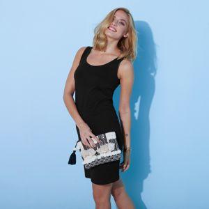 Blancheporte Jednofarebné šaty čierna 34/36