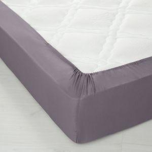 Blancheporte Jednofarebná napínacia plachta, bavlna, výška rohov 32 cm antracitová napínacia plachta 90x190cm