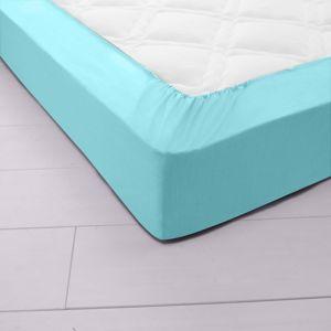 Blancheporte Napínacia posteľná plachta, džersej zn. Colombine blankytná modrá napínacie plachta 90x190cm