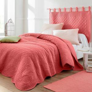 Blancheporte Prikrývka na posteľ Cassandre ružová koralová 150x150cm