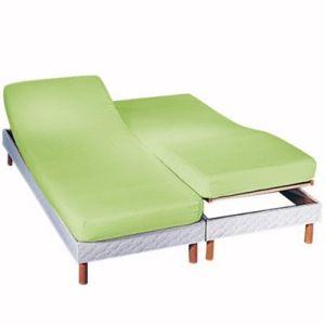 Blancheporte Napínacia plachta na polohovacie postele, bavlna anízová napínacia plachta 140x190cm