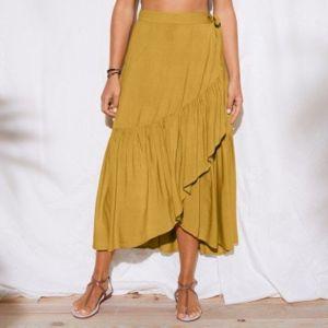 Blancheporte Dlhá puzdrová sukňa okrová 36