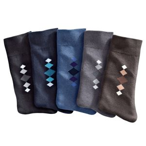 Blancheporte Ponožky s farebným motívom, súprava 5 párov klasické farby 35/38