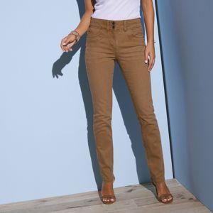 Blancheporte Rovné farebné džínsy hnedosivá 52