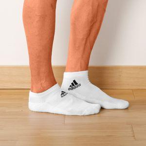 Blancheporte Biele členkové ponožky, súprava 3 páry biela 46/48