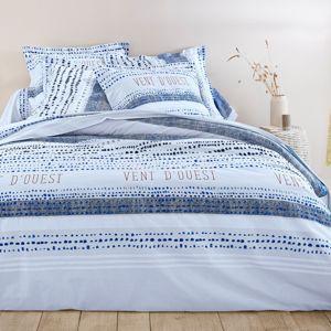 Blancheporte Posteľná bielizeň Belleile, bavlna modrá napínacia plachta 90x190cm