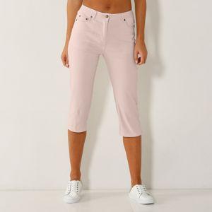 Blancheporte Korzárske slim džínsy ružová pudrová 52