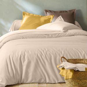 Blancheporte Jednofarebná posteľná bielizeň, bavlna piesková obliečka na vank. 63x63cm