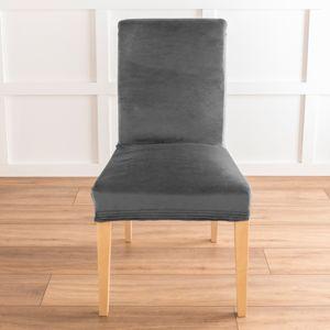 Blancheporte Bi-pružný poťah na stoličku s efektom velúru sivá jednotlivo