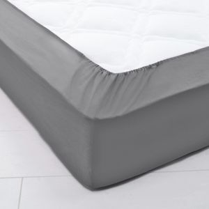 Blancheporte Napínacia plachta na polohovacie postele, bavlna antracitová napínacia plachta 160x200cm