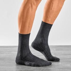 Blancheporte Ponožky pre citlivé nohy, súprava 2 páry antracitová 39/42