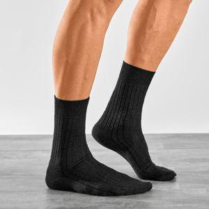 Blancheporte Ponožky pre citlivé nohy, súprava 2 páry čierna 39/42
