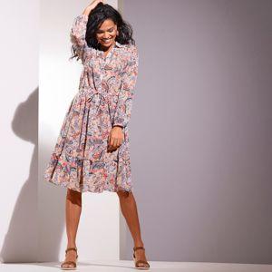 Blancheporte Košeľové šaty s potlačou ražná/indigo 44