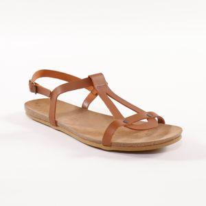 Blancheporte Kožené sandále, gaštanové gaštanová 38