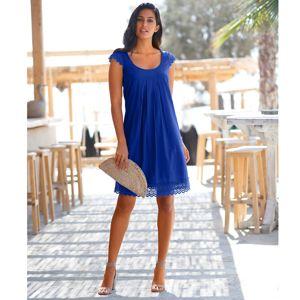 Blancheporte Šaty s macramé nám.modrá 44