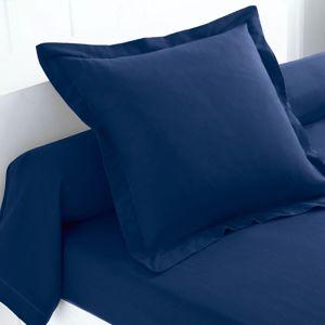 Blancheporte Jednofarebná posteľná bielizeň, flanel zn. Colombine nám.modrá napínacia plachta 160x200cm